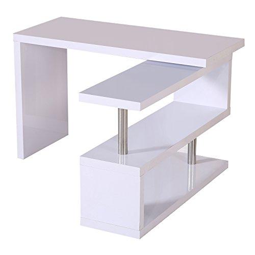 Homcom Computertisch Eckschreibtisch Winkelschreibtisch Schreibtisch Bürotisch PC Tisch