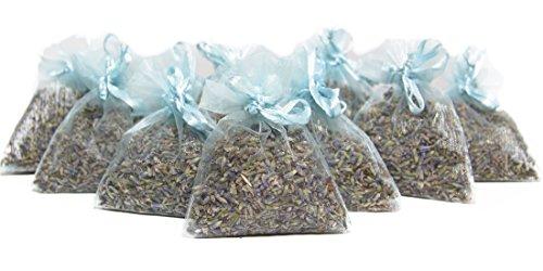Bio Lavender de Francia || Lavanda seca pura || 10 bolsas de organza con 5 gramos de lavanda biológica certificada || Lavanda biológica certificada FR-BIO-01 || Brotes de flores de alta fragancia || Desodorizante natural || Repelente de polillas || Repelente de insectos || Decoración interior || Accesorios para el hogar || Regalo del día de la madre || Decoración del hogar || Aroma natural || Fragancia para el Hogar || Home Scents || Aroma de lavanda Pura || (Rosado) (azul)