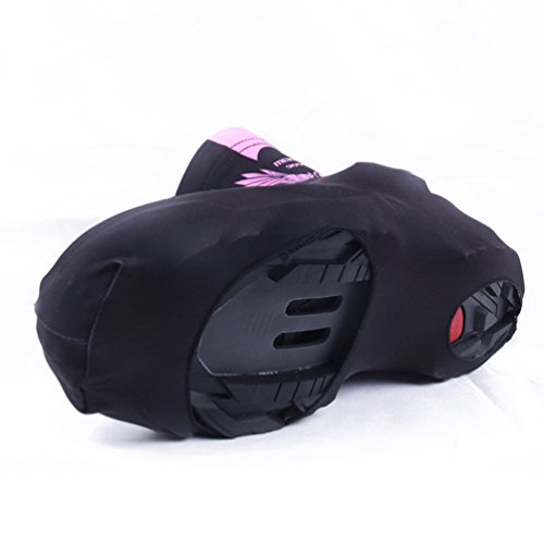 Yiiquan Uomo Ciclismo Copriscarpe, Mountain Bike Impermeabile Antivento Scarpe Protettore Nero Rose