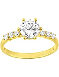 Citerna 9 ct Engagement Ring with CZ Stones
