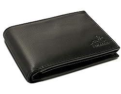 Fa.Volmer ® Schwarze Herren Ledergeldbörse aus echtem Leder Querformat #SQ90