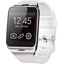 Reloj impermeable de la cámara GV18 Bluetooth Smart Watch GSM NFC Camera para Samsung iPhone (Blanco)