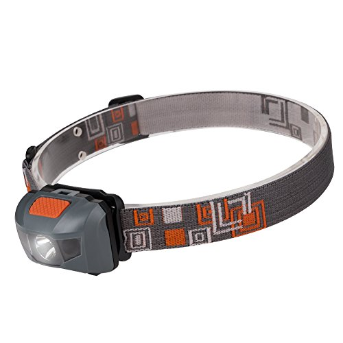 Linkax LED Headlamp Headlight 120 Lumens-Super Bright Waterproof Lightweight Comfortable Head Lamp Torch Light-4 Modes, White & Red LEDs-Great For Running Camping Hiking Fishing Lighting