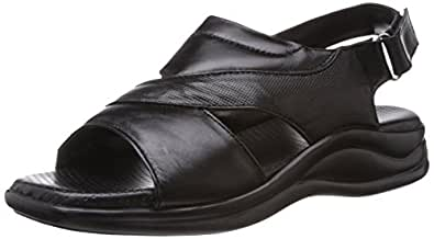 Coolers (from Liberty) Men's Black Leather Sandals and Floaters - 7 UK