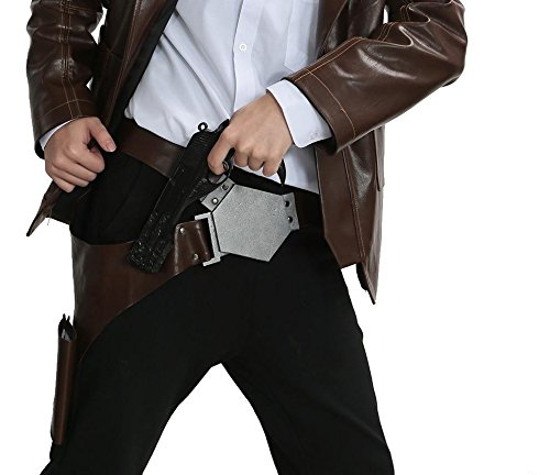 Halloween Cosplay Kostüm Einstellbar PU Gürtel Holster Requisiten Karneval Fancy Dress Merchandise for (Skywalker Luke Gürtel)