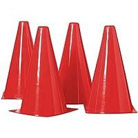 Best Sporting Juego de conos, 4unidades, color rojo
