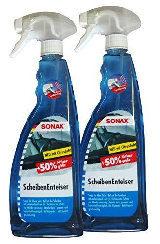 Preisjubel 2 x SONAX ScheibenEnteiser 750ml Citrusduft, Defroster, Sprüh-Enteiser