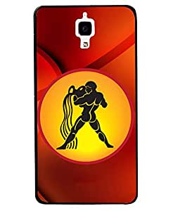 PrintVisa Metal Printed Zodiac Sign Designer Back Case Cover for Xiaomi Mi 4-D5031