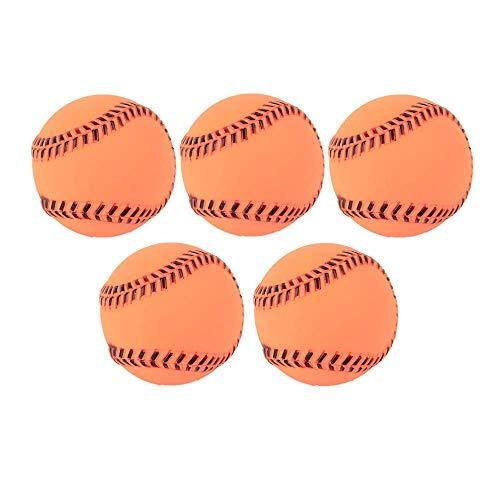 Z&J 5Pcs-Squeak Dog Ball Spielzeug, wegwerfen seinen Ball, unzerstörbare Spike Ball Interactive Puzzle Baseball Supplies, geeignet für Outdoor-Trainingsspiele -