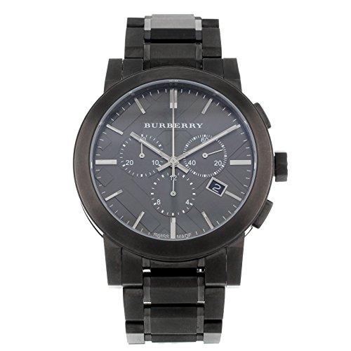 Burberry BU9354 - Reloj para Hombres, Correa de Acero Inoxidable Color Gris