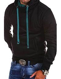 MT Styles pull avec capuche col châle 1602