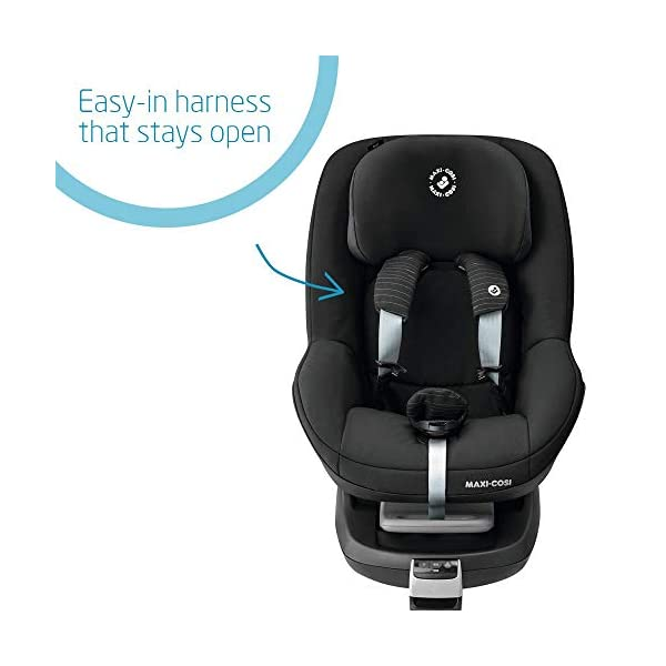 Maxi-Cosi Pearl Toddler Car Seat Group 1, ISOFIX Car Seat, Compact, 9 Months-4 Years, 9-18 kg, Scribble Black Maxi-Cosi Isofix anchorages provides the safest, easiest and quickest way to install a car seat  Innovative stay open harness stays open to easily get the child in and out in seconds  Very easy adjustment of safety harness and headrest height  3