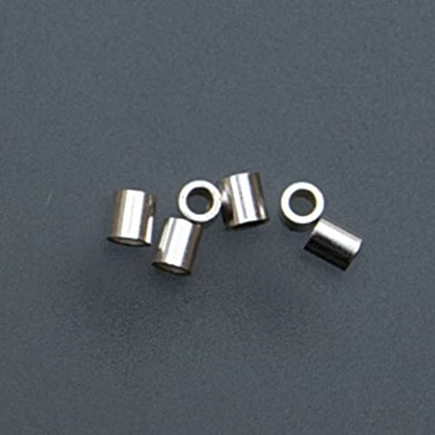 Sterling Silver Tube Crimp Beads, 2 X 2 Millimeters by EuroTool