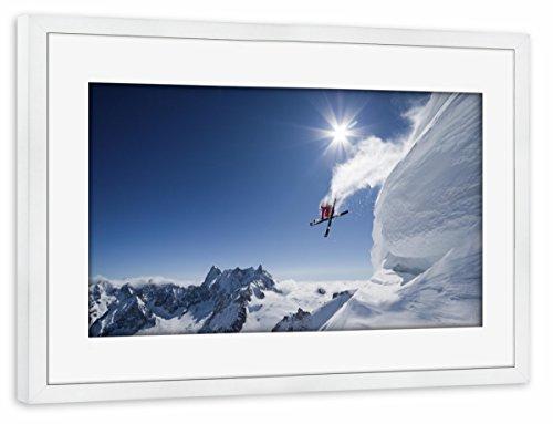 artboxONE Poster mit Rahmen Weiß 75x50 cm Higher von Pixum Edition - gerahmtes Poster -