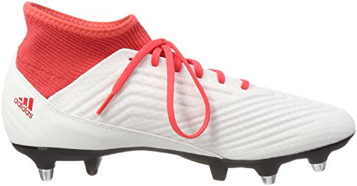 adidas Predator 18.3 SG, Chaussures de Football Homme Noir (Ftwr White/core Black/real Coral S18)