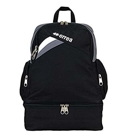 Flyn Youth Backpack–Universal Sports Backpack with Shoe Compartment, schwarz - anthrazit - weiß, One Size