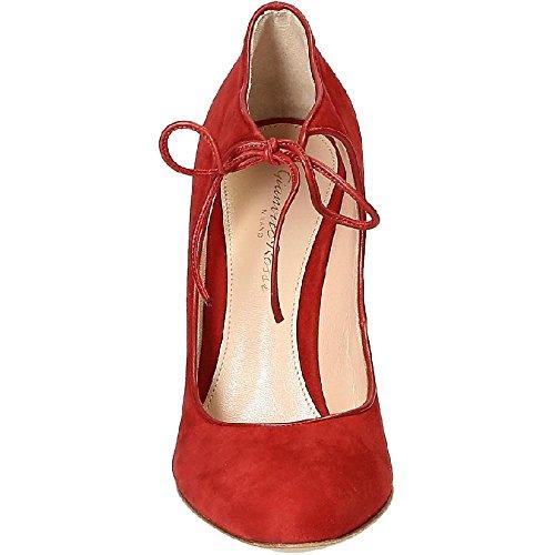 Chaussures à talon Gianvito Rossi en daim rouge - Code modèle: G20613 15RIC XCKTABT Rouge