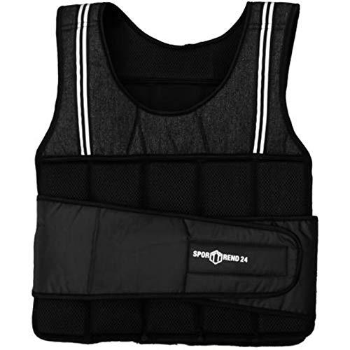 Sporttrend 24 | 8kg Gewichtsweste in schwarz | waschbare Trainingsweste Laufweste mit herausnehmbaren Gewichte