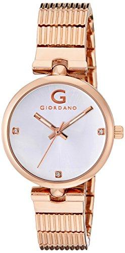 Giordano Analog Silver Dial Women's Watch - A2058-33
