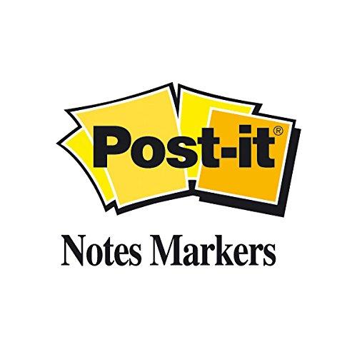 Post-it - Marcapáginas autoadhesivos (15 x 50 mm, 100 hojas), color naranja, verde, amarillo, morado y rosa