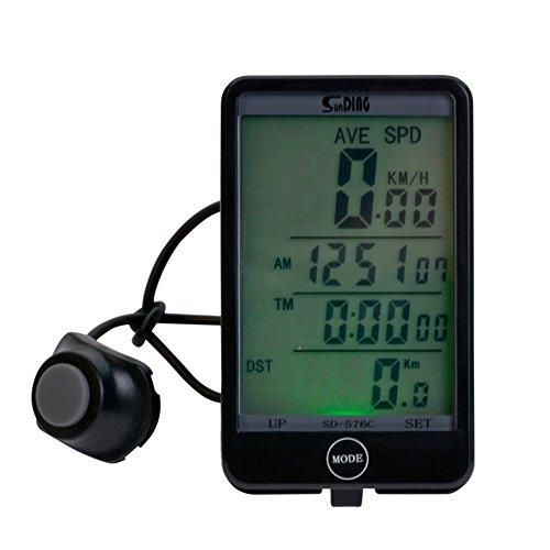 Ckeyin & # 174; Pantalla táctil bicicleta ordenador Digital Ciclismo bicicleta velocímetro/odómetro inalámbricos multifunción para bicicleta cronómetro odómetro velocímetro bicicleta