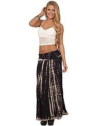 Longue jupe equipée souple extensible fois plus long panneau en ligne Batik