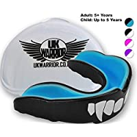 UK Warrior Vampire The Best Mouth Guard, Gumshield, Gum Guard, Gum Shield - For all contact sports, rugby, boxing, hockey, kickboxing, martial arts, judo, karate, MMA, football (With Free Case)