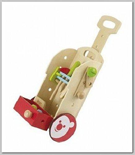 Preisvergleich Produktbild Kinderwerkzeug-Werkstattwagen aus Holz | Trolley zum hinterherziehen | Kinder-Sackkarre mit viel Werkzeug bestückt | mit Handgriff und Rollen | Aufbewahrungsmöglichkeit für Holzspiel-Werkzeuge | schnell noch das Bobbycar reparieren oder den Trampeltrecker | viel Spaß beim Werkeln