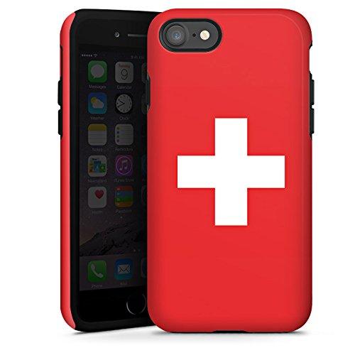 Apple iPhone 6 Silikon Hülle Case Schutzhülle Schweiz Flagge Switzerland Tough Case glänzend