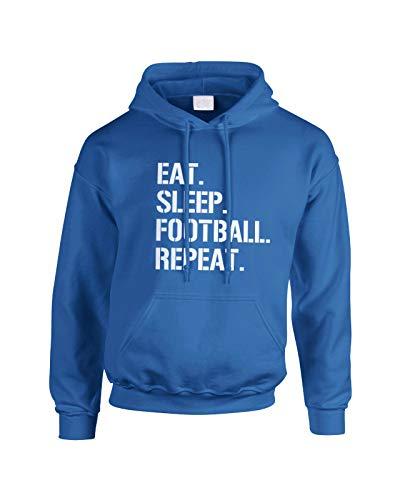 Eat Sleep Football Repeat Funny Unisex Kids Adults Hoodie Jumper Sport