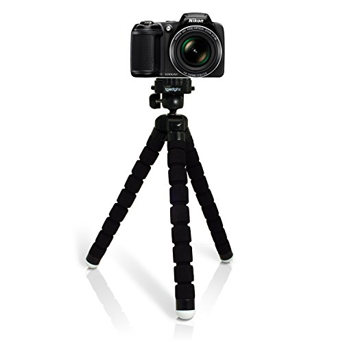 igadgitz Large Ultraflexibel Schaum Dreibeinstativ Mini-Stativ für Nikon D Series SLR DSLR Cameras DSLR D1 D100 D1H D1X, D200 D2H D2HS D2X D2XS, D3 D300 D3000 D300S D3100 D3200 D3300 D3S (Nikon D3000 Stativ)