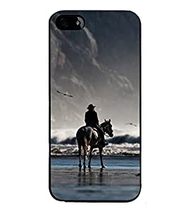 PrintVisa Lonely High Gloss Designer Back Case Cover for Apple iPhone 5S