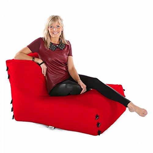 Sofá Modular De Esquina Bolsas De Frijoles - Silla Solamente-Roja