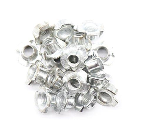 binifimux 30Pack 1/10,2cm-20x 5/40,6cm 4ist Tee Mutter Carbon Stahl T Muttern Zink vergoldet