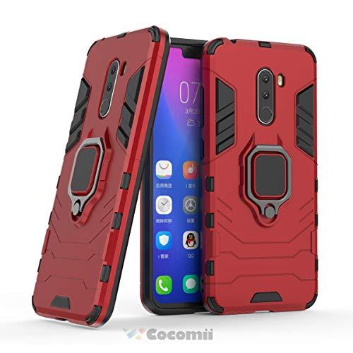 Cocomii Black Panther Armor Xiaomi Mi F1/Pocophone F1/Poco F1 Hülle NEU [Strapazierfähig] Metallring Ständer [Funktioniert Mit Magnetischer Autohalterung] Case Schutzhülle for Xiaomi Mi F1 (B.Red)