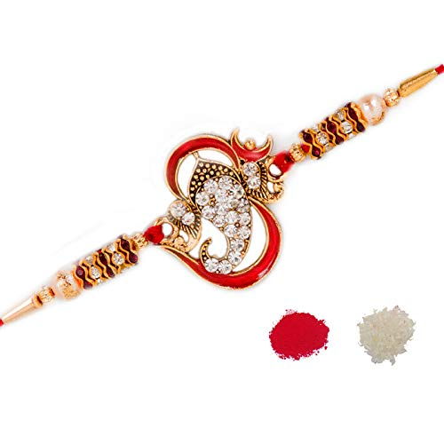 To The Nines Elegant Rakhi for Beloved Brother (Pack of 1)