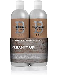 BED HEAD by TIGI for Men Clean Up Tween Duo Daily Shampoo & Conditioner for Normal Hair 2x750 ml