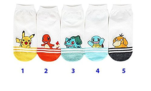 Happytree-Calcetines-para-mujer-multicolor-Pokemon-5-pairs-Talla-nica