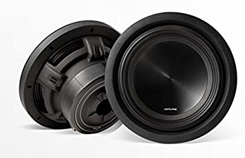 Alpine SWT-10S4 Single 4-Ohm 10 Inch 1000 Watts Peak/350 Watts RMS Truck Subwoofer with Shallow Mounting Depth