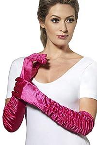ADULT WOMENS PINK TEMPTRESS GLOVE SHEER DESIRES SMIFFYS FANCY DRESS COSTUME (accesorio de disfraz)