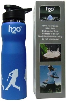 H2O SB 104 Blue Sports Water Bottle 750ML