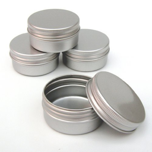 12 x 30 ml Make up, Aluminium Pot, 30 ml, leer klein/Kerzenhalter/Gewürzdosen/Gewürzgläser, Produkt formen (Art Gel Duftkerzen)
