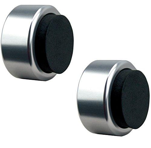 NOVAATO Premium Metall Türstopper - Eleganter Wandtürstopper schützt ihre Wände und federt jeden noch so harten Aufprall gekonnt ab, 2er Set