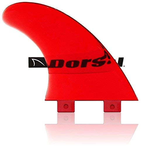 The DORSAL FlexRez Twin Fin Set has a 50/50 Foil for superior stability and control.