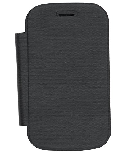 iCandy™ Synthetic Leather Flip Cover For Micromax A52 - BLACK  available at amazon for Rs.160