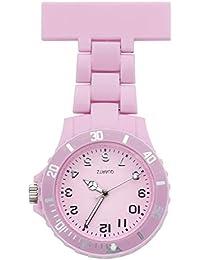 JSDDE RELOJ de Enfermera Enfermería Bolsillo Colgar Clip-on con Pinza, color Rosa