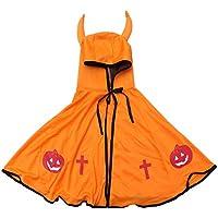 BESTOYARD Traje de Halloween Cosplay Traje de Capa con Capucha de niños con Cuernos Traje de
