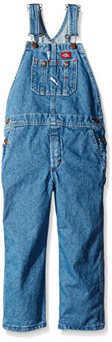 Dickies Jungen Denim Latzhose, Medium, Stonewashed Indigo Blue -