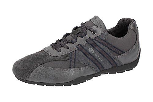 Geox U743FB Uomo Ravex Sportlicher Herren Sneaker, Schnürhalbschuh, Freizeitschuh, Atmungsaktiv, Herausnehmbare Innensohle Grau (Anthra), EU 41