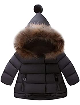 OVERMAL Baby Mädchen Daunenjacke Baby Kleinkind Mädchen Winterjacke Kinderjacken Winter Warm Mantel Jacke Dicke...